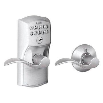 Schlage CamelotxAccent Lever Keypad Entry Auto-Lock, Satin Chrome