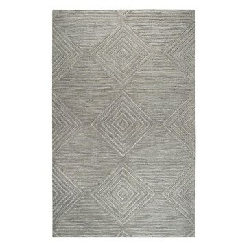 Rizzy Home Idyllic Transitional Solid Rug, Grey, 2.5X8 Ft