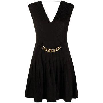 all-over logo chain-detail dress