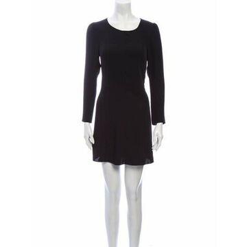Scoop Neck Mini Dress w/ Tags Black