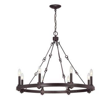 Savoy House Adria 32 Inch 8 Light Chandelier Adria - 1-930-8-13 - Farmhouse