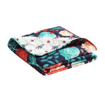 Lush Decor Poppy Garden Throw