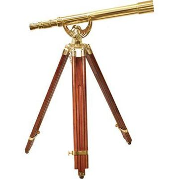 Barska 18x50mm Anchormaster Brass Telescope with Mahogany Tripod