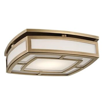 Hudson Valley Elmore LED Ceiling Light in Aged Brass