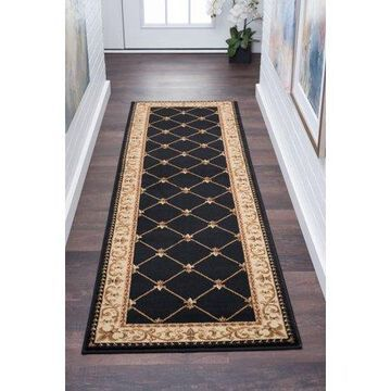 Bliss Rugs Olivet Traditional Runner Rug