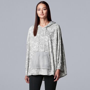 Women's Simply Vera Vera Wang Hooded Velour Sleep Poncho