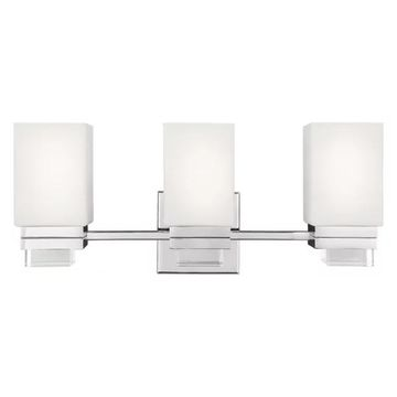Feiss Maddison 3-Light Vanity, Polished Nickel