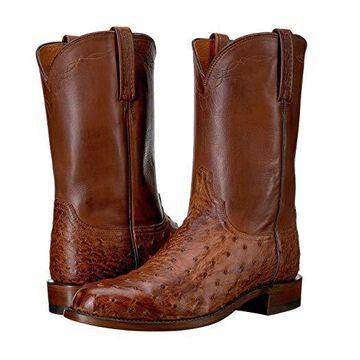 Lucchese Zane (Barnwood) Cowboy Boots