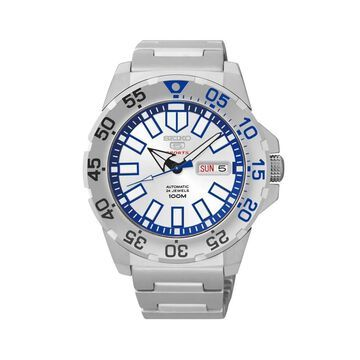 Seiko 5 Men's Sports Silver Watch