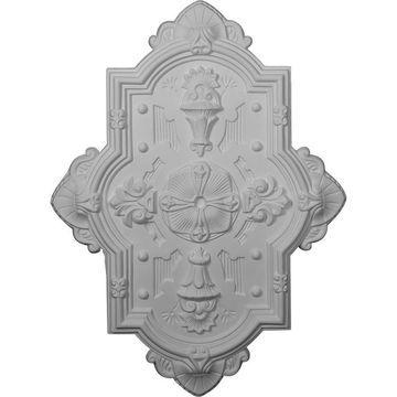 Ekena Millwork Cathedral 29.125-in x 38.125-in White Polyurethane Ceiling Medallion