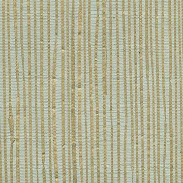 Kenneth James Arina Turquoise Grasscloth Wallpaper
