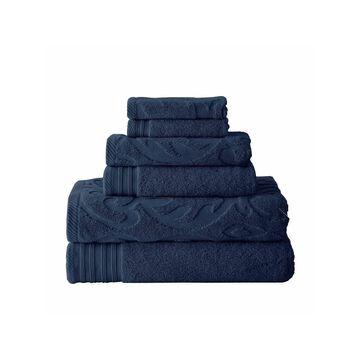 Pacific Coast Textiles Medallion Swirl 6-pc. Bath Towel Set