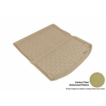 3D MAXpider 2017-2017 Audi A4 All Weather Cargo Liner in Tan with Carbon Fiber Look