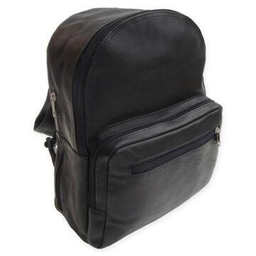 Piel Leather 16-Inch Traditional Backpack in Black