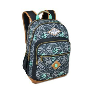 Kelty Print With Faux Leather Bottom Backpack