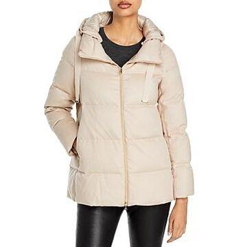 Herno Silk & Cashmere Short Puffer Coat