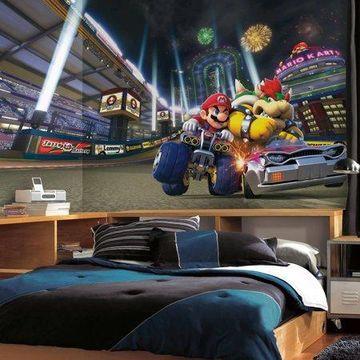 RoomMates Mario Kart 8 XL Chair Rail Prepasted Mural, 6' x 10.5', Ultra-Strippable