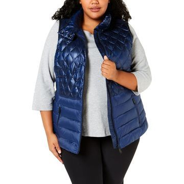 Calvin Klein Women's Plus Size Quilted Down Insulated Outerwear Vest