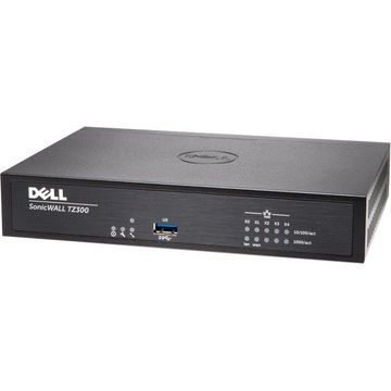 SonicWall TZ300 Network Security/Firewall Appliance - 5 Port - 10/100/1000Base-T Gigabit Ethernet - Wireless LAN IEEE 802.11ac - AES (128-bit), AES (256-bit), DES, MD5, AES (192-bit), SHA-1, 3DES - USB - 5 x RJ-45 - Manageable - Desktop