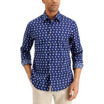 Tasso Elba Men's Floral-Print Cotton Shirt, Created for Macy's