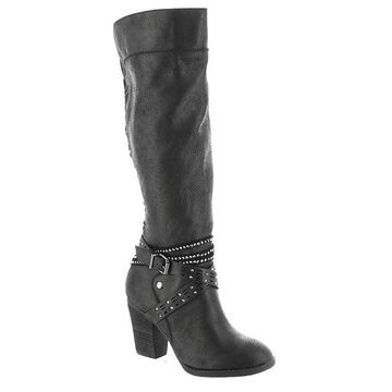 Not Rated Womens Raine Almond Toe Knee High Fashion Boots
