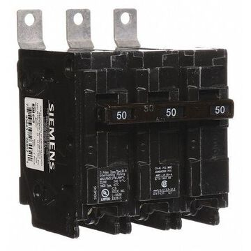Miniature Circuit Breaker, 50 A, 240V AC, 3 Pole, Bolt On Mounting Style, BL Series