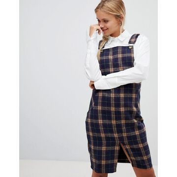 QED London check overall dress
