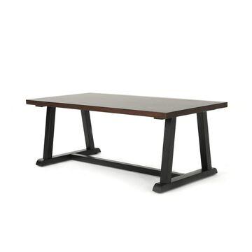Powell Industrial Coffee Table Dark Walnut - Christopher Knight Home
