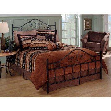 Hillsdale Furniture Harrison Textured Black Metal Scroll Full Bed