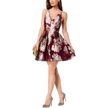 Xscape Womens Mini Dress Floral Daytime