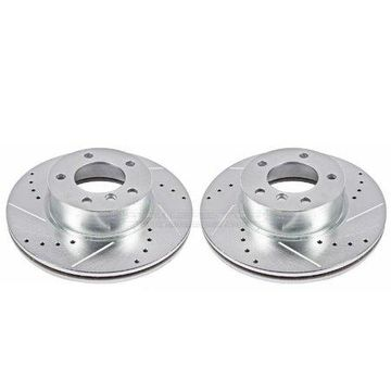 Power Stop EBR842XPR Evolution Drilled & Slotted Rotors -Front
