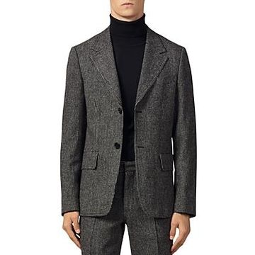Sandro Micro-Check Slim Fit Suit Jacket