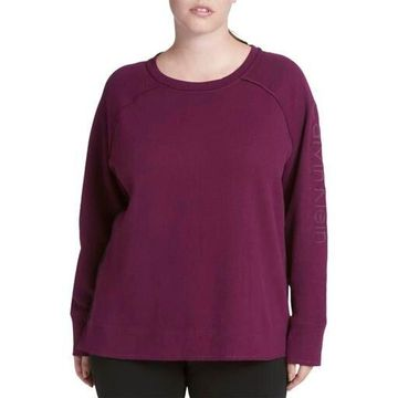 Calvin Klein Performance Womens Plus Yoga Fitness Sweatshirt