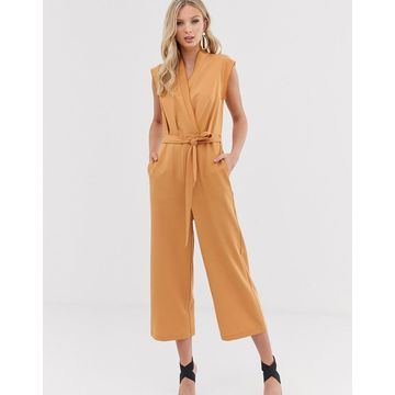 Y.A.S wrap sleevless cropped jumpsuit