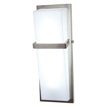 Access Lighting Sierra 1 Light Brushed Steel Wall Sconce
