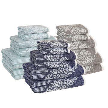 Authentic Hotel and Spa Margot Turkish Cotton Jacquard 6-piece Bath Towel Set