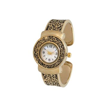 Olivia Pratt Womens Gold Tone Strap Watch-A915887gold