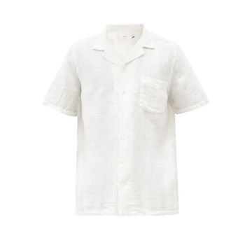 Onia - Vacation Linen-blend Shirt - Mens - White