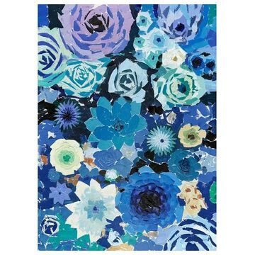 Moes Home Collection RE-1182 Paintings and Print Wall Decor, Blue