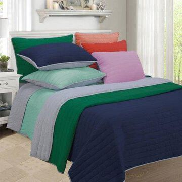 Superior Brandon Soft Cotton Striped Quilt Set