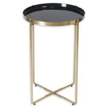 Ren-Wil Aspen Enamel Accent Table In Brass