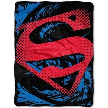 Superman Super Rip Shield Plush Micro-Raschel Throw