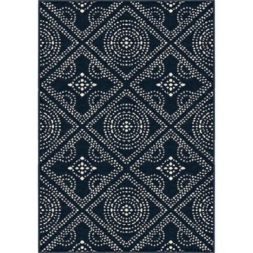 Orian Rugs Farmhouse Indoor/Outdoor Camille Catalina Blue Rug - 7'9