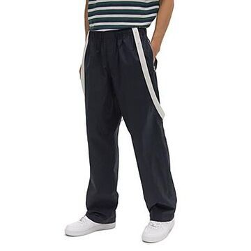 Helmut Lang Cotton Regular Fit Drawstring Pants with Removable Suspenders