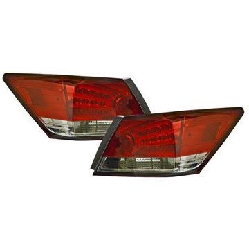 IPCW (LEDT-716RS2) 2008-2012 Accord 4-Door LED Tail Lamps Red/Smoke