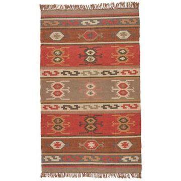 Jaipur Bedouin Thebes Deep Rust Tribal 8-Foot x 10-Foot Rug