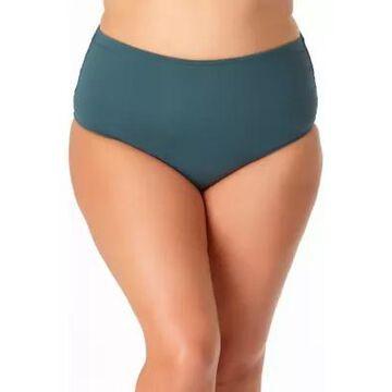 Anne Cole Women's Plus Size High Waist Shirred Swim Bottoms - -