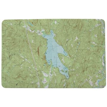 Newfound Lake, NH Nautical Map Door Mat Large (Multi)