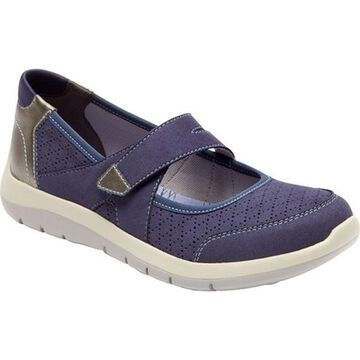 Aravon Women's Wembly Mary Jane Blue Textile