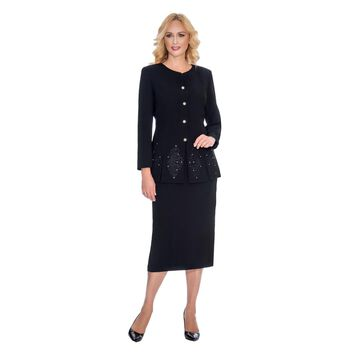Giovanna Signature Women's 2-piece Embroidered Skirt Suit